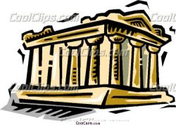 Parthenon clipart cartoon