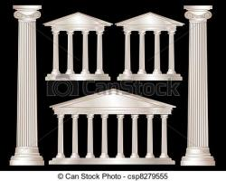 Columns clipart drawing