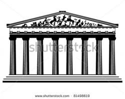 Parthenon clipart roman temple