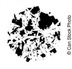 Particle clipart black and white