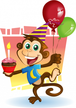 Baboon clipart birthday