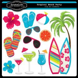 Tropics clipart beach party