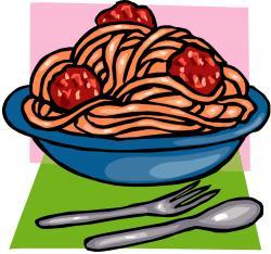 Sauce clipart spaghetti dinner