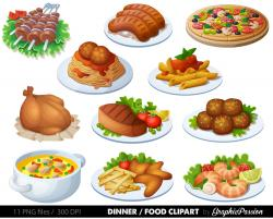 Pasta clipart lunch food