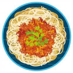 Noodle clipart plate spaghetti