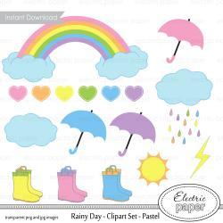 Clouds clipart pastel