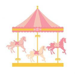 Amusement Park clipart horse carousel