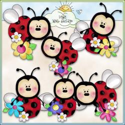 Ladybug clipart whimsical