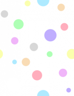 Dots clipart colored circle