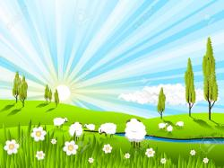 Farm clipart pasture