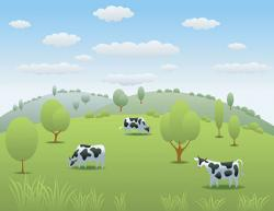 Pasture clipart cow