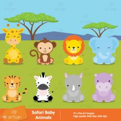 Patchwork clipart baby zoo animal