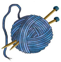 Patchwork clipart basket yarn