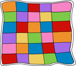 Patchwork clipart bed quilt
