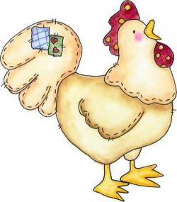 Patchwork clipart chook