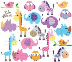 Patchwork clipart jungle animal