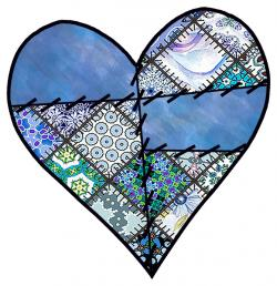 Patchwork clipart patchwork heart
