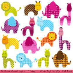 Patchwork clipart pink