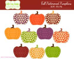Patchwork clipart pumpkin