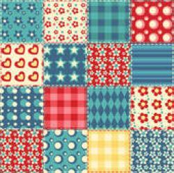 Patchwork clipart quilt