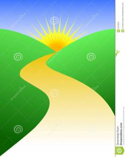 Pathway clipart winding path