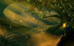 Fantasy clipart enchanted tree