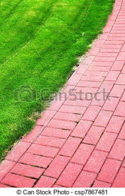 Sidewalk clipart grass