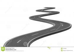 Asphalt clipart curve road