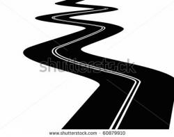 Asphalt clipart black and white