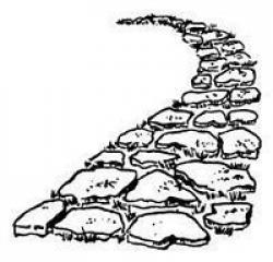 Cobblestone clipart stone path