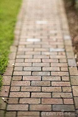 Walkway clipart red brick