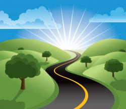 Roadway clipart journey