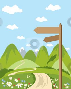Countyside clipart hillside