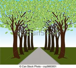 Pathway clipart forest path