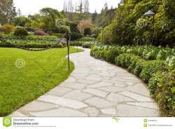 Pathway clipart garden path