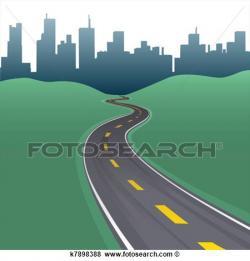 Pathway clipart highway