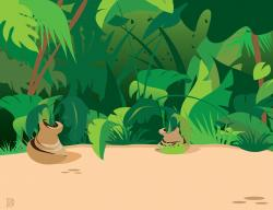 Wallpaper clipart jungle