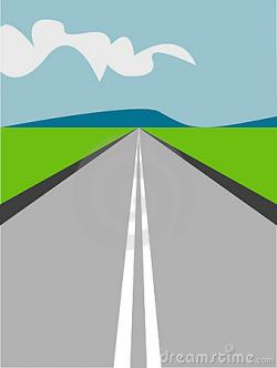 Pathway clipart long road