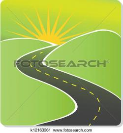 Curve clipart journey road