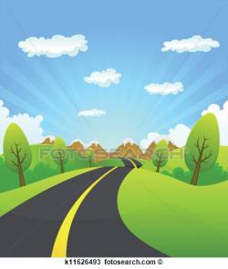 Pathway clipart mountain road