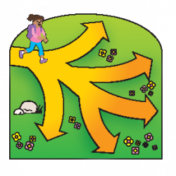 Pathway clipart multiple path