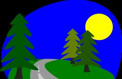 Pathway clipart road scene