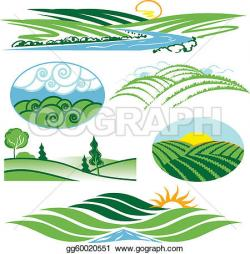 Outside clipart rolling hills