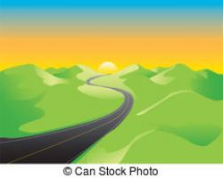 Rural clipart hill background