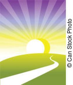Pathway clipart sun horizon