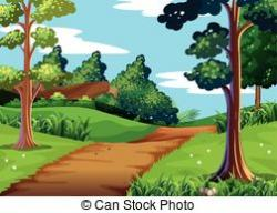 Sidewalk clipart nature trail