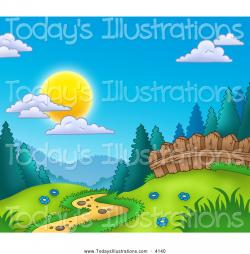 Meadow clipart path