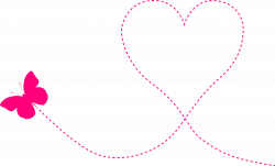Hearts clipart trail