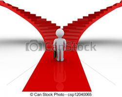 Pathway clipart two road