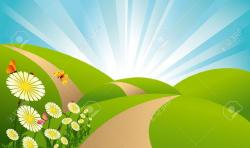 Meadow clipart pathway